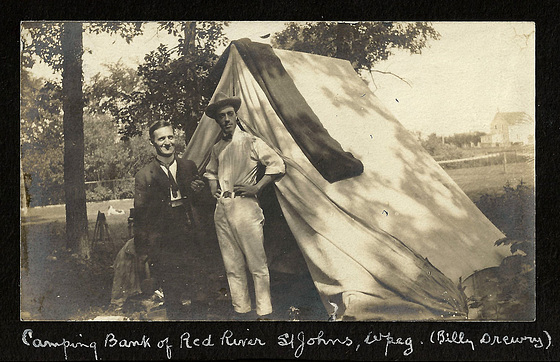 PMB059 CAMPING BANK OF RED RIVER ST JOHNS WPG - (BILLY DREWRY)