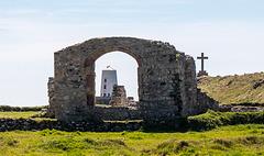 The ruin of a church on Llanddwyn island