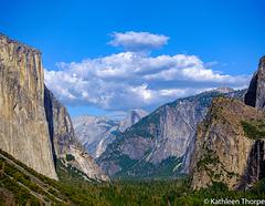 Yosemite Valley View of Half Dome