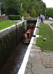 Brynich Lock, Monmouthshire-Brecon Canal, Brecon 23 August 2017