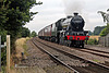 Stanier LMS class 6P Jubilee 45699 GALATEA running as 45562 ALBERTA at Low Scamston Crossing with 1Z27 16.41 Scarborough - Carnforth The Scarborough Spa Express 13th August 2020 (steam as far as York)