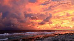 Premier lever de soleil à Aratika (pip x 3)