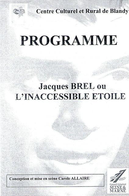 Concert Jacques Brel à Blandy-les-Tours le 05/05/2007