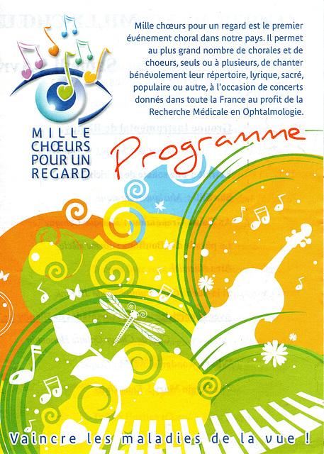 Concert Mille Choeurs à Bernay le 05/04/2008