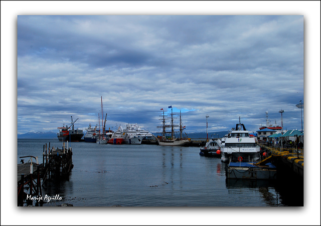 Puerto de Ushuaia. La ciudad más austral del mundo.
