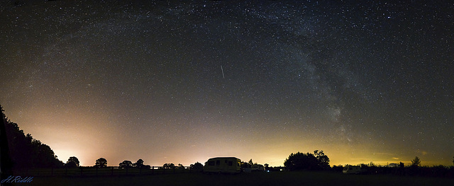 Milky Way Bow over the Yorkshire Dales