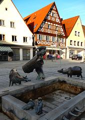 Brunnenfiguren in Ebermannsstadt in Franken