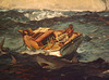 Detail of The Gulf Stream by Winslow Homer in the Metropolitan Museum of Art, February 2013