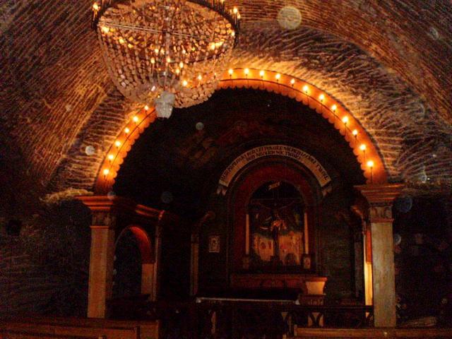 Chapel in underground gallery.