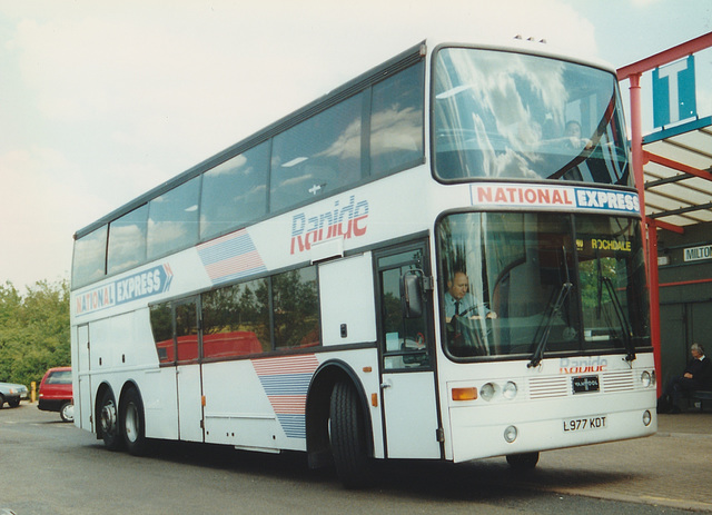 Trathens L977 KDT at Milton Keynes Coachway - 2 Jun 1997