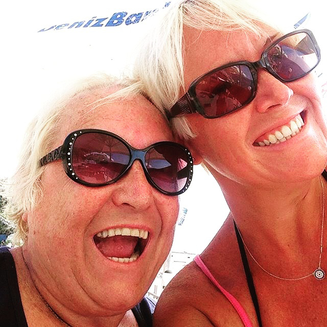Mum and daughter having fun together