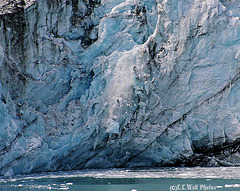 Icefall Frozen in Midair
