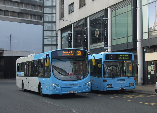 DSCF0414 National Express Coventry BX13 JSU and S579 VUK