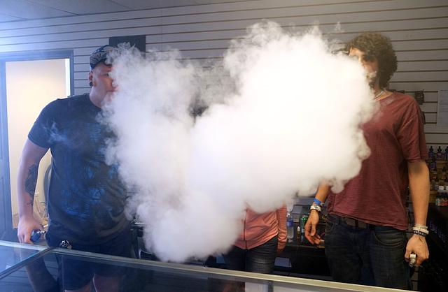 Store owner hidden behind cloud