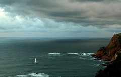 Heading for shelter: Knysna Heads, South Africa