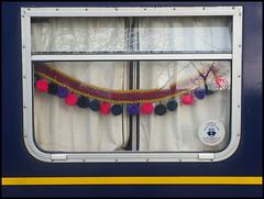 festive pom pom chain