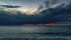 Sunset sur la plage.