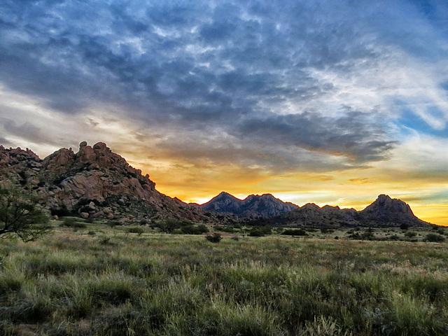 The Dragoon Mountains @ Sunrise