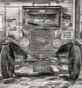 Heritage Village, 1925 Model T, Charcoal Sketch 032316