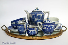 BLUE WILLOW KINDERSERVIES VIJFTIGERJAREN