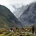 Toward the glacier