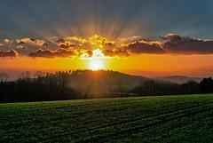 Sonnenuntergang über dem Herzenberg