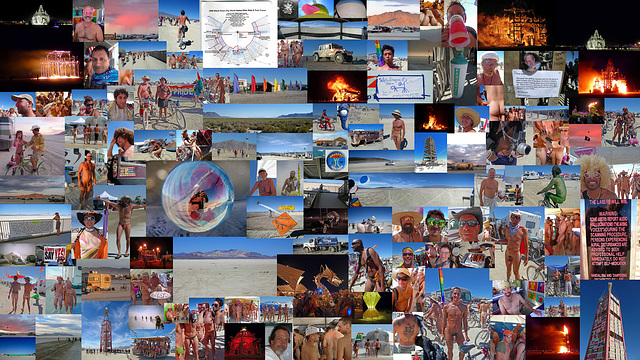 2008 Burning Man Collage
