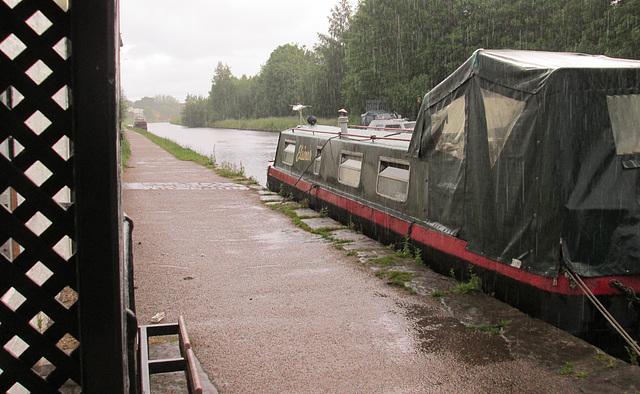 Rain on the canal.