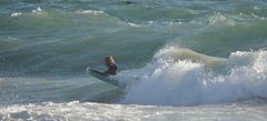 Enjoying the wave.