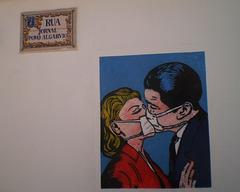 Covid-19 kiss.