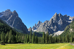 Blick von links auf Rotwand, Zwölferkofel, Einserkofel - Sextener Dolomiten