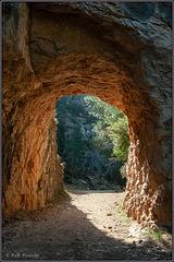 Goldener Felsdurchbruch im El Parrizal