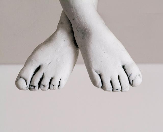 Feet of a sculpture