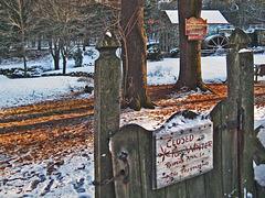 Wayside Grist mill in Winter