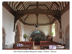 St Mary's Friston The Nave from West 20 2 2019