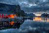 Lofots. A Reine sunset. 201408