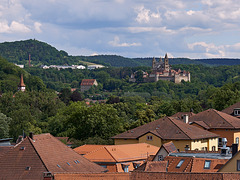 Comburg über der Katharinenvorstadt
