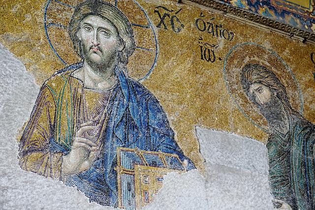 Hagia Sophia - das berühmte Deesis-Mosaik - the famous Deesis-Mosaic