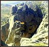 Sierra de La Cabrera and climber