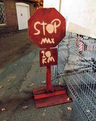 Weird stop sign