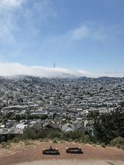 Wild fog in urban California.