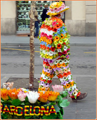Barcellona : La Rambla,  27 novembre = voglia di 'estate'