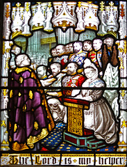 Detail of Queen Victoria Memorial Window, Great Malvern Priory, Worcestershire