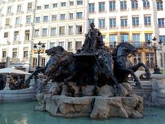 Fontaine Bartholdi, Place des Terreaux à Lyon !