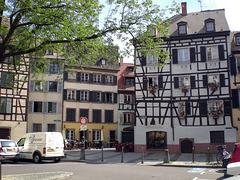 Fachwerkhäuser am Place de Moulin