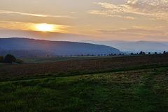 Sonnenuntergang im Land der offenen Fernen - Sunset in the land of open distance