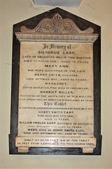 Earp family memorial, Saint John's Church, Wolverhampton, West Midlands