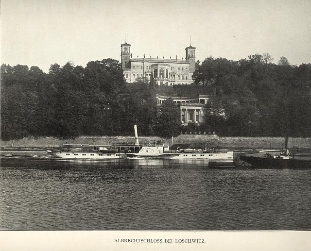 Album von Dresden: Albrechtschloss bei Loschwitz