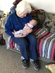Great-grandmother Verna and Jocassee