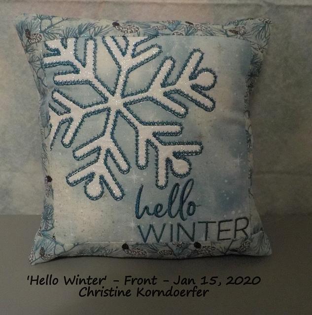 Hello Winter - Front - Jan 15, 2020